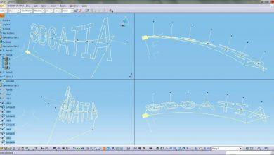 CATIA 3D TEXT